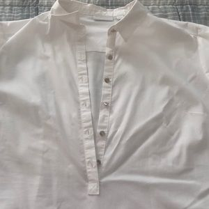Casual cotton button up